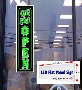Led We Are Open 48x12 Window Sign Neon Banner Alternative New Generation Leds
