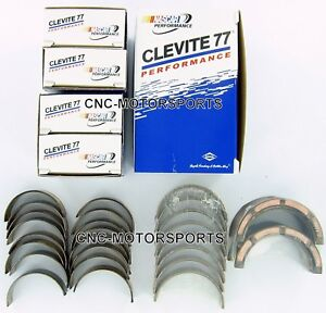 Sb Chevy 305 350 383 Clevite 77 Rod And Main Bearing Combo Set Ms909p Cb663p