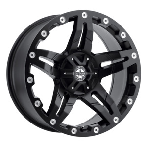 Set 4 17x8 5 10 5x127 5x5 Revolver Satin Black Wheels rims 17 inch 48780