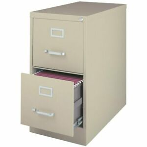 Hirsh 26 5 In Deep 2 Drawer Vertical Letter File Cabinet In Putty