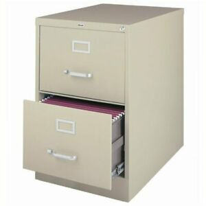 Hirsh 26 5 In Deep 2 Drawer Vertical Legal File Cabinet In Putty