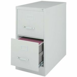 Hirsh 25 In Deep 2 Drawer Vertical Letter File Cabinet In Gray
