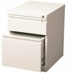 Hirsh 20 In Deep Box file Mobile Pedestal File Cabinet In White