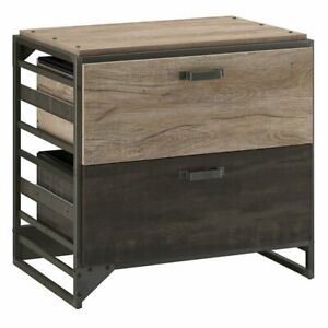 Scranton Co 2 Drawer Lateral File Cabinet In Rustic Gray