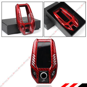 Premium Red Carbon Fiber Case Cover For 2017 19 Bmw Touchscreen Display Key Fob