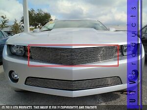 Gtg 2010 2013 Chevy Camaro V6 1pc Polished Upper Overlay Billet Grille Grill