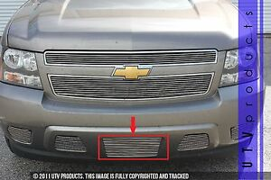 Gtg 2007 2014 Chevy Tahoe 1pc Polished License Plate Billet Grille Grill