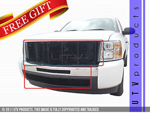 Gtg 2007 2013 Chevy Silverado 1500 3pc Gloss Black Billet Grille Grill Kit