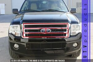 Gtg 2007 2014 Ford Expedition 4pc Gloss Black Billet Grille Grill Insert Kit