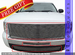 Gtg 2007 2013 Chevy Silverado 1500 3pc Polished Billet Grille Grill Kit