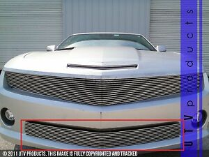 Gtg 2010 2013 Chevy Camaro Ss 1pc Polished Overlay Bumper Billet Grille Grill