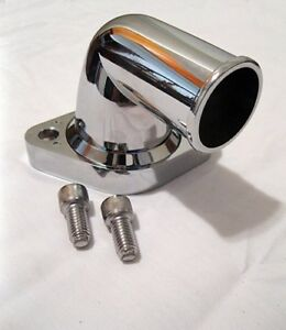 Sbc Bbc Small Block Chevy Chrome Thermostat Housing 90 Degree Water Neck Swivel