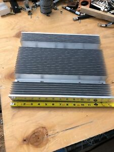 Used Large Finned Aluminum Heat Sink Measure 13 3 4 X 11 3 4 X 2 1 4