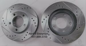 New 1965 1969 Lincoln Front Disc Brake Rotors Rotor Left Right Cross drilled