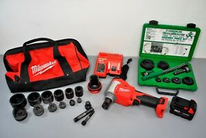 Milwaukee M18 10 ton Knockout Kit 2676 22 Greenlee Set 7238sb Slug Buster Nice