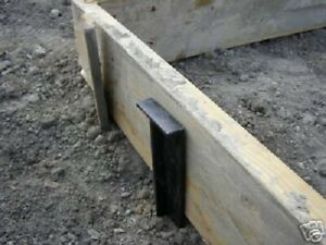 24 strong Masonry Concrete Cement Forms Stakes Box 25 black free Shipping