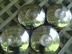 Three 47 48 Pontiac Chieftain Safari Star Chief Hubcaps Wheel Covers Center Cap