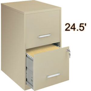 Steel 24 5 2 drawer Office File Cabinet Beige With Lock Letter Storage