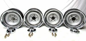 1988 1995 Chevrolet Truck Rallys 15x6 Set Of 4 With Rings Centers