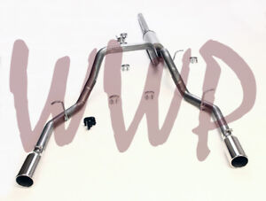 Stainless 3 Dual Split Rear Exit Cat Back Exhaust 14 19 Chevy Gmc 1500 Pickup