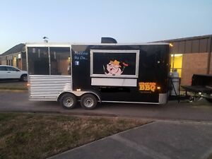 2016 Turn Key Bbq Food Concession Trailer 20 X 7 5 6ft Screened in Porch