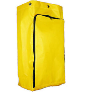 American Supply Replacement Janitorial Cart Bag With Front Opening Zipper Vinyl
