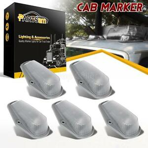 5pcs Clear Cab Roof Running Marker Light Assembly Kit For Ford F 150 F 250 F 350