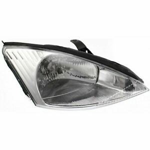 Headlight For 2000 2001 2002 Ford Focus Right Halogen With Bulb