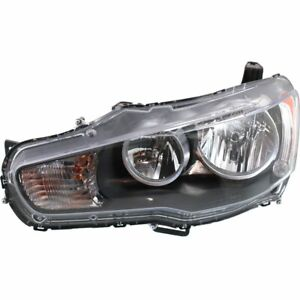 Headlight For 2008 2009 Mitsubishi Lancer Left Clear Lens Halogen