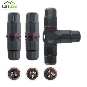 Ip68 Waterproof Connector 2 Pin 3 Pin Electrical Terminal Wire Adapter Set