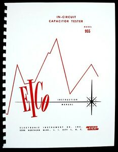 Eico Model 955 In circuit Capacitor Tester Instruction Manual
