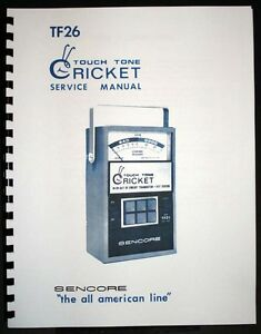Sencore Tf 26 Tf26 Cricket Touch Tone Fet And Transistor Tester Manual