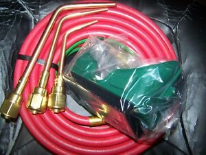 3 Pc Victor Brazing Tips From Journeyman Kit With Hose And Goggles