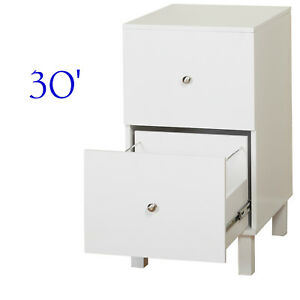 Home Office Filing Cabinet White Wood File Storage Organizer W 2 Drawers Letter