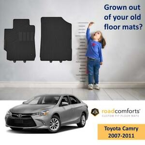 Custom Fit Toyota Camry 2007 2011 Car Floor Mats Front Row Only 2pcs