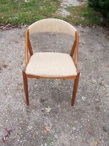 Vintage Mid Century Modern Teak Danish Round Back Windsor Type Lounge Chair