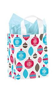 100 Plastic Frosty Bags Holiday Christmas 8 X 5 X 10 Ornaments Frosted