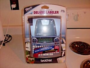 brother Pt 1880 Advanced Deluxe Labeler Printer Sealed Brand New