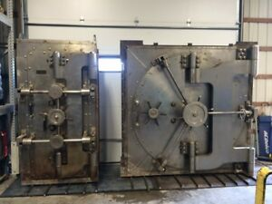 Antique Diebold Bank Vault Door