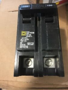 New Circuit Breaker Homeline Square D Hom2100 2 Pole 100 Amp 120 240v Hom2100c