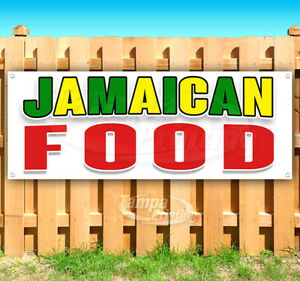 Jamaican Food Advertising Vinyl Banner Flag Sign Many Sizes Carnival Food