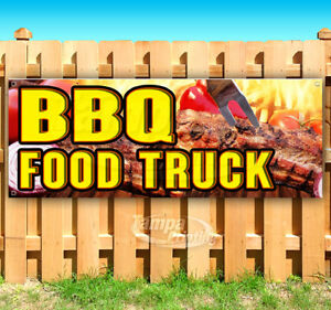 Bbq Food Truck Advertising Vinyl Banner Flag Sign Many Sizes Carnival Food