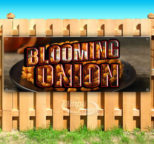 Blooming Onion Advertising Vinyl Banner Flag Sign Many Sizes Carnival Food