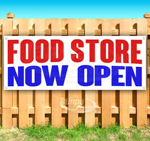 Food Store Now Open Advertising Vinyl Banner Flag Sign Many Sizes