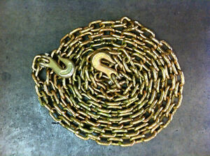 3 8 X 20 Grade 70 Binder Chain With Clevis Grab Hooks