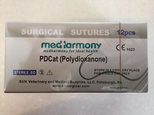 4 Boxes Of Veterinary Suture Pdo 2 0 45cm 24mm 3 8 Rev Cutting 12 bx Pdcat