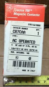 Ge Cr7caa Magnetic Contactor Ac Operated 25amp 660v 3 phase 60hz