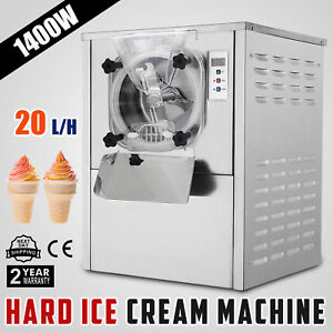 Frozen Hard Ice Cream Machine 20l h Ice Cream Yogurt Maker Stainless Steel