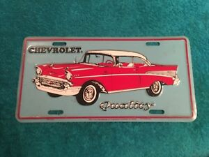 Rare Chevrolet Gm Dealer Dealership License Plate Chevrolet Quality 1957