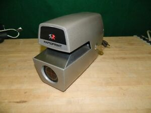 Rapidprint Model Ar e Time Stamp Recorder Workhorse Clean Tested Works Thru 2021